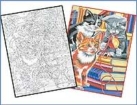 """Раскраска по номерам акриловыми красками """"Котята"""" — купить ..."""
