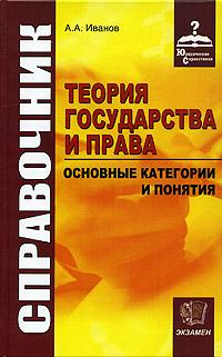 А. А. Иванов Теория государства и права. Основные категории и понятия. Справочник