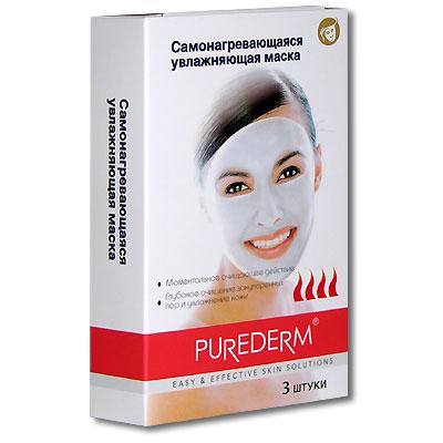 Самонагревающаяся увлажняющая маска Purederm 3 шт .