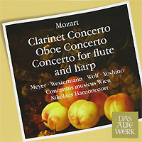 Conсentus Musicus Wien,Николаус Арнонкур Das Alte Werk. Mozart. Concertos For Clarinet, Oboe, And Flute And Harp николаус арнонкур conсentus musicus wien das alte werk bach 4 orchestral suites 2 cd