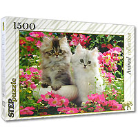 Котята. Пазл, 1500 элементов step puzzle котята 1500 шт