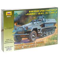 Немецкий бронетранспортер SDKFZ 251/1 Ханомаг. Модель для склеивания звезда сборная модель немецкий бтр ханомаг