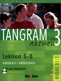лучшая цена Tangram acktuell 3: Lektion 5-8: Kursbuch + Arbeitsbuch (+ CD-ROM)
