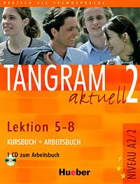 лучшая цена Tangram aktuell 2 - Lektion 5-8. Kursbuch + Arbeitsbuch (+ CD)