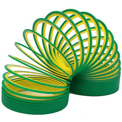 Пружинка Slinky neon цвет зеленожелтый .