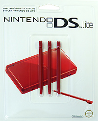 Стилус для Nintendo DS Lite красного цвета (комплект из 3 шт.) геймпад nintendo switch pro controller