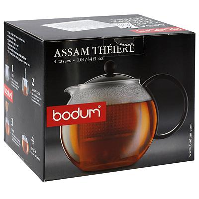 Чайник заварочный Bodum Assam с фильтром 1 л .