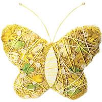 Пасхальное декоративное украшение Бабочка. 16233 декоративное пасхальное украшение на ножке home queen роскошное цвет зеленый высота 27 см