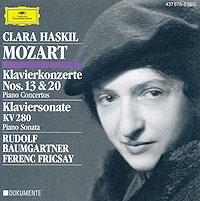 Clara Haskil. Mozart. Klavierkonzerte Nr. 13 & 20 / Klaviersonate KV 280 клара хаскил clara haskil 10 cd