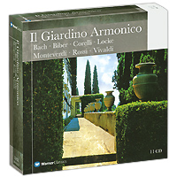 Джованни Антонини,Il Giardino Armonico,Энрико Онофри,Марко Бианчи,Дуилио Галфетти Il Giardino Armonico. Bach / Biber / Corelli / Locke / Monteverdi / Rossi / Vivaldi (11 CD) b marini sonata sopra la monica