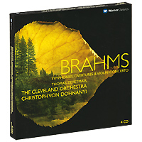 Томас Зехетмейр,Кристоф Фон Донани,The Cleveland Orchestra Thomas Zehetmair, Christoph Von Dohnanyi. Brahms. Symphonies, Overtures & Violin Concerto (4 CD) ф шопен мазурки op 68 mazurkas op 68