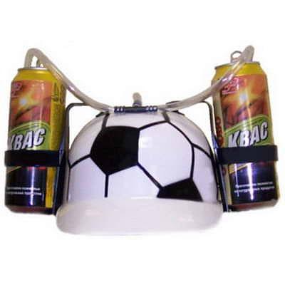 Каска с подставками под банки Футбол .