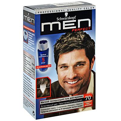 Тонирующий гель для мужчин Men Perfect 70 Натуральный темнокаштановый .