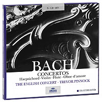 Тревор Пиннок,The English Concert Orchestra Trevor Pinnock. Bach. Concertos. Collectors Edition (5 CD) саймон престон тревор пиннок the english concert orchestra simon preston trevor pinnock handel complete organ concertos 3 cd