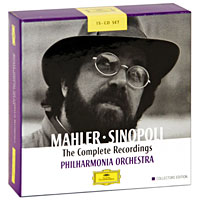 Джузеппе Синополи,Philharmonia Orchestra Giuseppe Sinopoli. Mahler. The Complete Recordings. Collectors Edition (15 CD) саймон престон тревор пиннок the english concert orchestra simon preston trevor pinnock handel complete organ concertos 3 cd