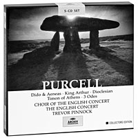 Тревор Пиннок,The English Concert Orchestra Trevor Pinnock. Purcell. Dido And Aeneas / King Arthur, etc. Collectors Edition (5 CD) саймон престон тревор пиннок the english concert orchestra simon preston trevor pinnock handel complete organ concertos 3 cd