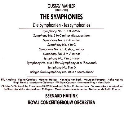 Bernard Haitink. Mahler. The Symphonies (10 CD)