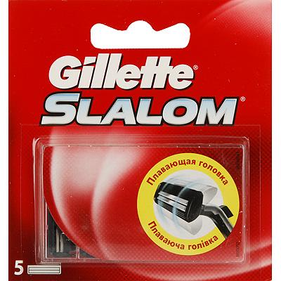 Сменные кассеты для бритья Gillette Slalom со смазывающей полоской, 5 шт