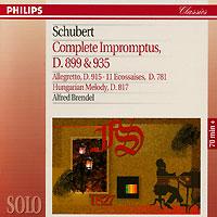 Альфред Брендель Alfred Brendel. Schubert. Complete Impromptus wilhelm kempff schubert impromptus d 899