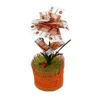 """Денежный цветок """"Расцвет бизнеса"""" рубли, цвет в ассортименте"""