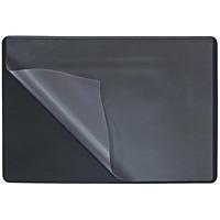 Коврик на стол  Durable  с прозрачным листом, цвет: черный, 650х520