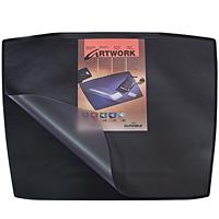Коврик на стол  Durable  с прозрачным листом, цвет: черный, 68х53