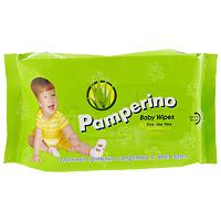 Влажные салфетки для детей Pamperino, 80 шт влажные салфетки pamperino 80 детские без отдушки pamperino