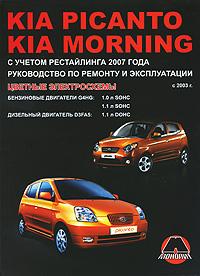 С. Н. Погожий, М. Е. Мирошниченко Kia Picanto / Morning с 2003 г., Бензиновые двигатели: 1.0 / 1.1 л. Дизельные двигатели: 1.1 л. Руководство по ремонту и эксплуатации. Цветные электросхемы гусь с сост opel meriva руководство по ремонту и эксплуатации бензиновые двигатели дизельные двигатели выпуск с 2003 года