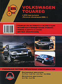 Volkswagen Touareg 2002 г. Руководство по ремонту и эксплуатации росс твег ремонт трансмиссии легковых автомобилей