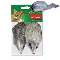 """Игрушка для кошек Triol """"Мышь"""", 2 шт"""