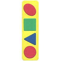 Бомик Пазл для малышей Простые геометрические фигуры109Мягкая мозаика выполнена в виде яркой рамки с четырьмя геометрическими фигурами: овалом, квадратом, треугольником и кругом. Мозаика изготовлена из мягкого, прочного материала, который обеспечивает большую долговечность и является абсолютно безопасным для детей. Мягкая мозаика развивает у ребенка память, воображение, моторику, пространственное и логическое мышление, знакомит с простыми геометрическими фигурами, развивает цветовое восприятие. Обучение происходит прямо во время игры! 5 элементов мозаики. Уважаемые клиенты! Обращаем ваше внимание на цветовой ассортимент товара. Поставка осуществляется в зависимости от наличия на складе.