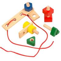 Развивающий набор из дерева Д189 набор для развития моторики мир деревянных игрушек д189