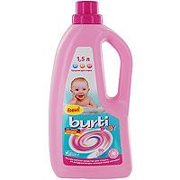 Жидкое средство для стирки детского белья Burti Baby, 1,5 л средство для стирки burti color liquid для цветного белья 1 5 л