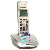 Радиотелефон Panasonic KX-TG2511RUN, платиновый panasonic kx tg1611rur dect phone digital cordless telephone wireless phone system home telephone