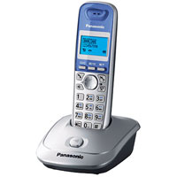 Радиотелефон Panasonic KX-TG2511RUS, серебристый panasonic kx tg1611rur dect phone digital cordless telephone wireless phone system home telephone