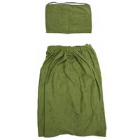 Комплект для бани и сауны Eva мужской, Б25, зеленый килт для бани и сауны eva мужской цвет оливковый