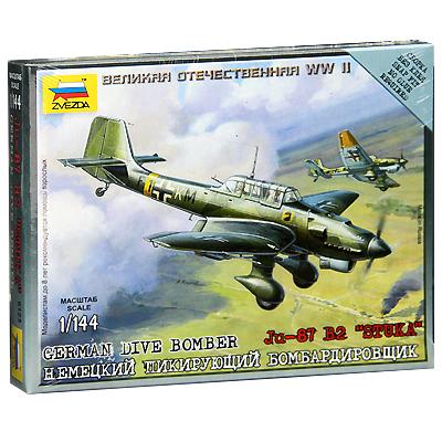 Сборная модель Немецкий пикирующий бомбардировщик Ju87 .