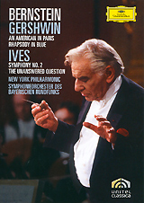 Gershwin, Leonard Bernstein: An American In Paris Rhapsody In Blue / Ives, Leonard Bernstein: Symphony No. 2 The Unanswered Question (2 DVD) leonard bernstein barber schuman