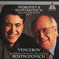 лучшая цена Максим Венгеров,Мстислав Ростропович,The London Symphony Orchestra Maxim Vengerov, Mstislav Rostropovich. Prokofiev / Shostakovich. Violin Concertos No. 1