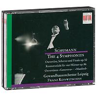 Франц Конвичный,Gewandhausorchester Leipzig Franz Konwitschny. Schumann. The 4 Symphonies / Overtures (3 CD) франц бдоян franz bdoyan roots of armenian jazz
