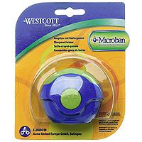 Точилка Westcott с антибактериальным покрытием, цвет: синий, зеленый