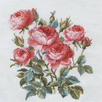 Набор для вышивания крестом Riolis Садовые розы, 40 х 40 см набор для вышивания крестом хрустальная бабочка 31 см х 40 см