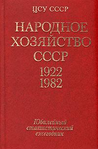 Народное хозяйство СССР. 1922-1982 гг. Юбилейный статистический ежегодник