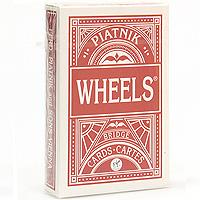 Игральные карты Piatnik Карты игральные профессиональные Wheels бридж, 55 карт, цвет красный1392 красный карты игральные профессиональные piatnik rosette 56 карт