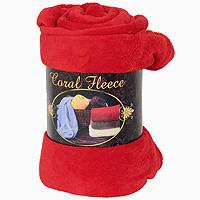 Плед флисовый Coral Fleece, цвет: красный, 220 х 200 см плед флисовый coral fleece цвет красный 220 х 200 см