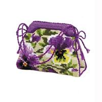 Набор для вышивания крестом Riolis Игольница-сумочка. Анютины глазки, 11 х 8 см набор для вышивания крестом riolis березы 26 х 38 см