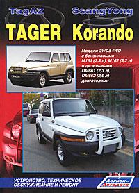 ТагАЗ Тагер / СангЙонг Корандо. Модели 2WD&4WD с бензиновыми М161 (2,3 л), М162 (3,2 л) и дизельными ОМ661 (2,3 л), ОМ662 (2,9 л) двигателями. Устройство, техническое обслуживание и ремонт максим мирошниченко ssangyong daewoo korando kj с 1996 года korando cabrio 1997 1999 годов тагаз tager с 2008 года руководство по ремонту и эксплуатации