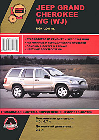 Jeep Grand Cherokee WG (WJ) 1999-2004 г.в. Руководство по ремонту и эксплуатации wj