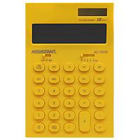 Фото - Калькулятор Assistant AC-2329, 12-разрядный, цвет: желтый калькулятор настольный assistant ac 2488 14 разрядный ac 2488