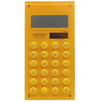 Калькулятор Assistant AC-1193, 8-разрядный, цвет: желтыйAC-1193YellowСтильный карманный калькулятор в ярком цветном корпусе с круглыми резиновыми кнопками, окрашенными в цвет корпуса - это не только помощник в вычислениях, но и стильный деловой аксессуар. Калькулятор оснащен 8-разрядным дисплеем-линзой, увеличивающим цифры. Позволяет вычислять проценты и запоминать промежуточные результаты вычислений. Калькулятор имеет двойную систему питания: от солнечного элемента и от батареи. 8-разрядный дисплей Вычисление процентов Цветной пластиковый корпус Двойное питание Резиновые кнопки Дисплей с выпуклой линзой Характеристики: Размер калькулятора: 12,1 x 6,1 x 0,9 см. Размер дисплея: 4,5 см х 1,6 см. Цвет: желтый.